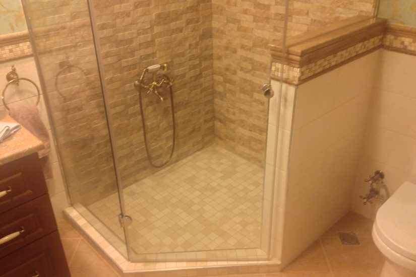Video Install Travertine Tile Mosaic