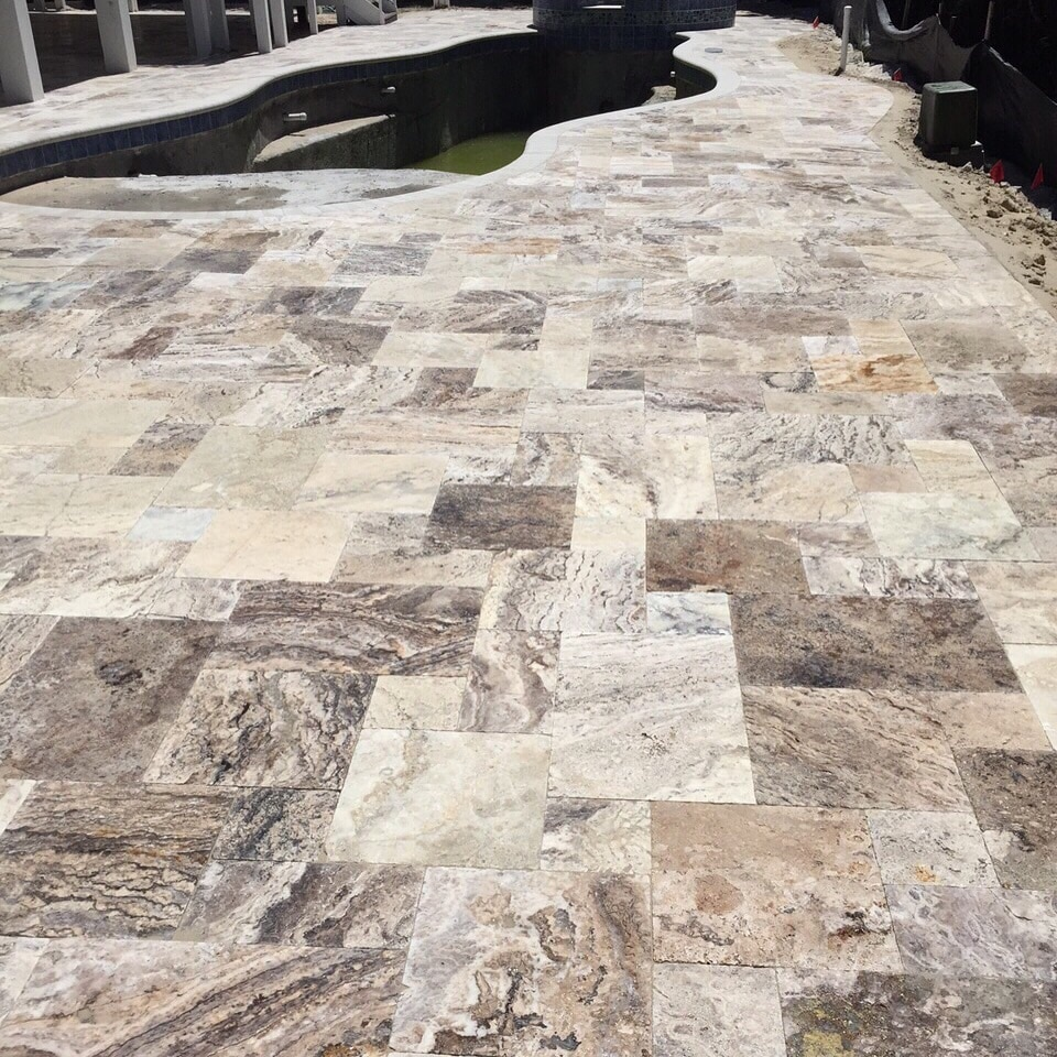 TRAVERTINE PAVERS INSTALLATION