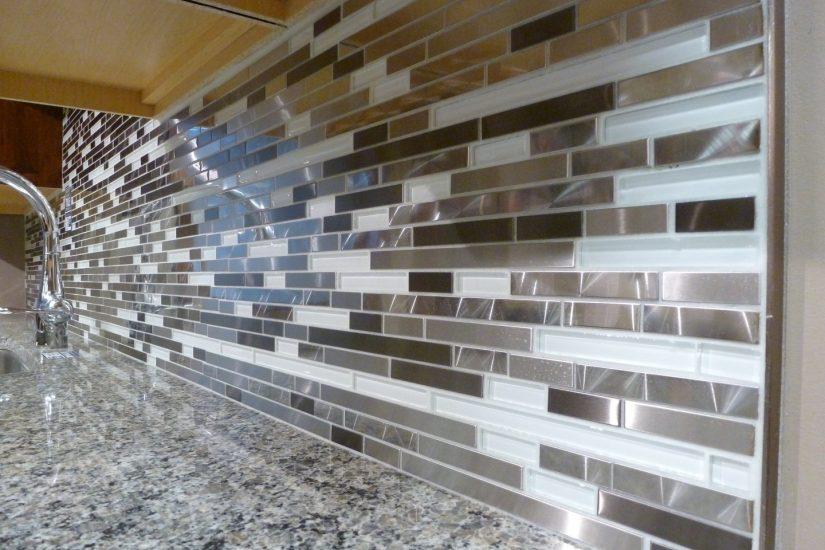 Install Mosaic Tile Backsplash